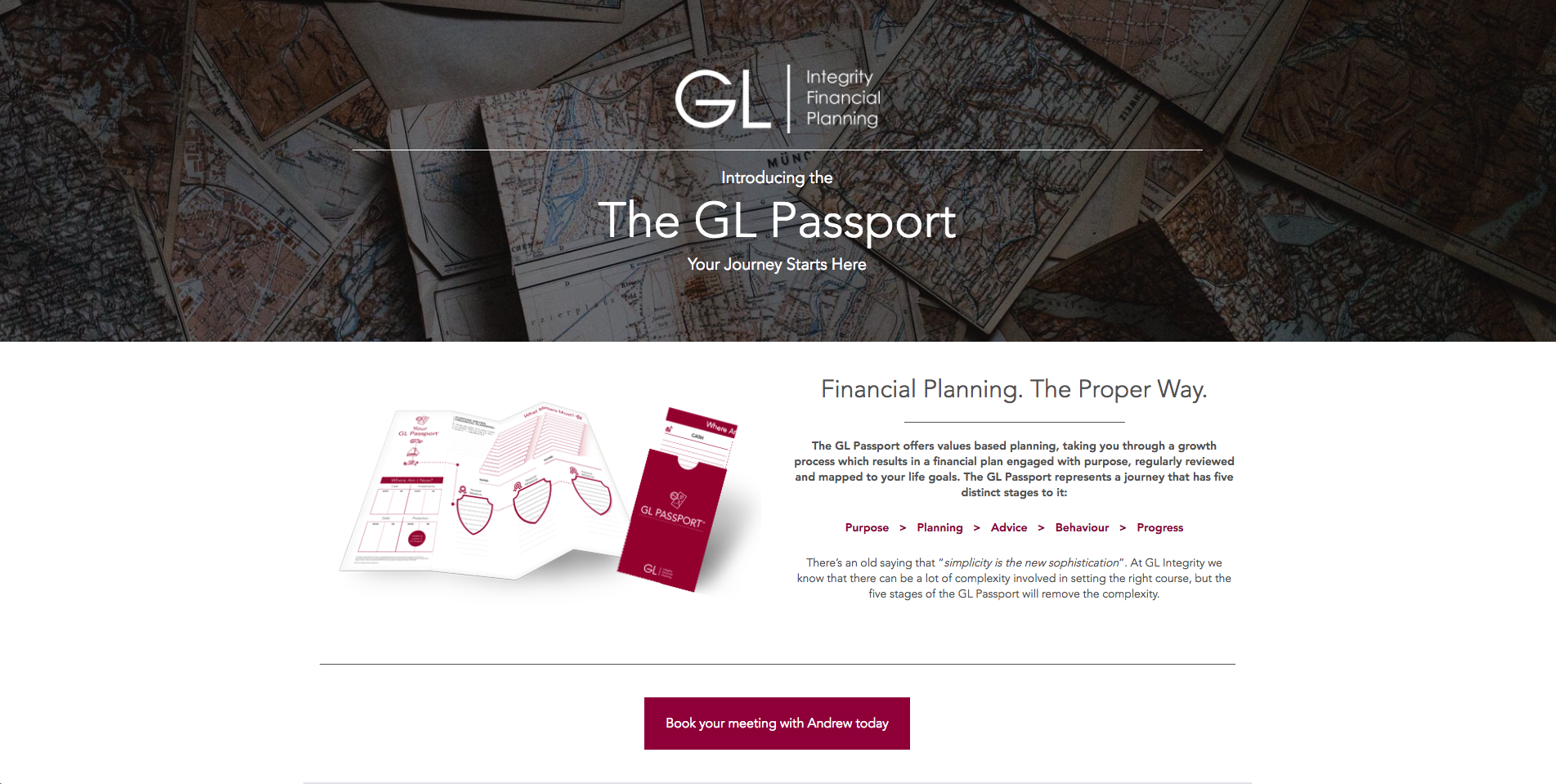 GL Passport Product Landing Page - How to Utilise Your Business Landing Page