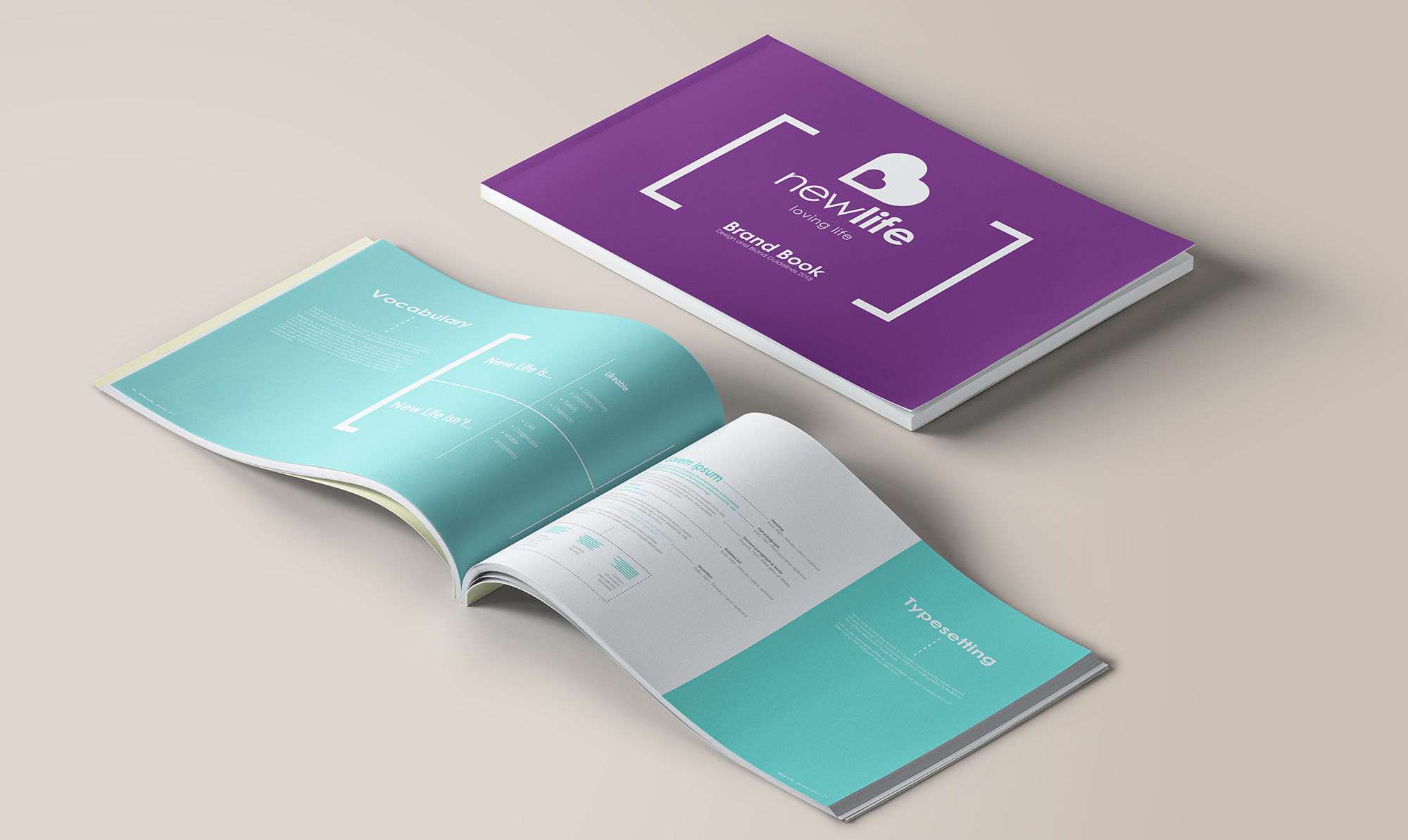 Newlife brand book mock 1 1 - 3 Steps to a Stunning and Professional Brochure