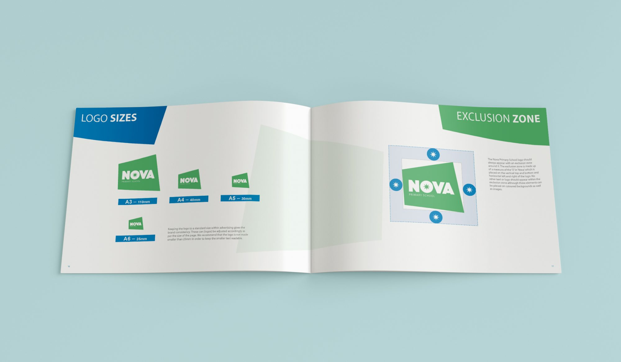 Nova Brand Book Mock up - Protechnic Brochure