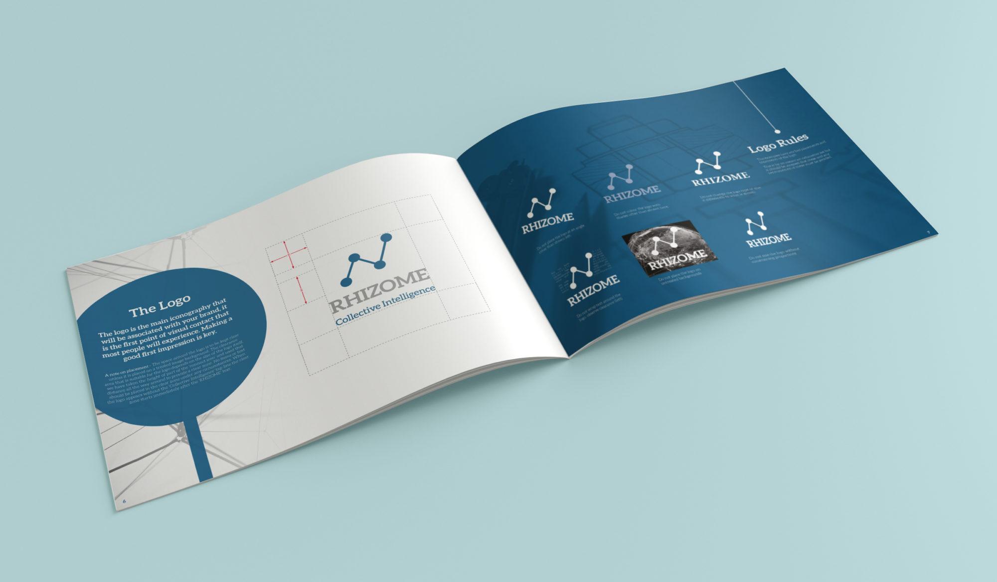 Rhizome Brand book Logo - Protechnic Brochure