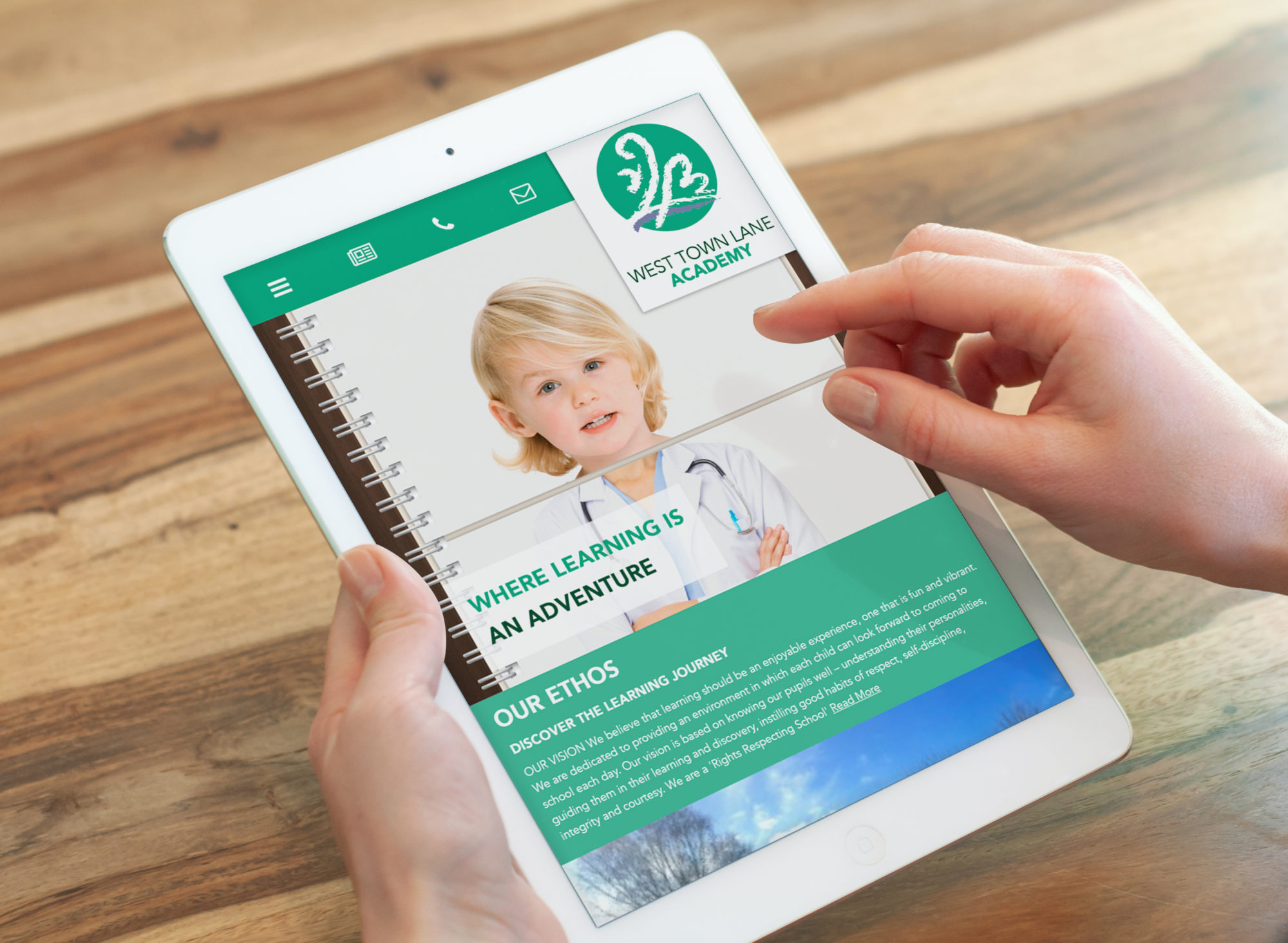 WTL ipad mockup - Craft Insurance Website