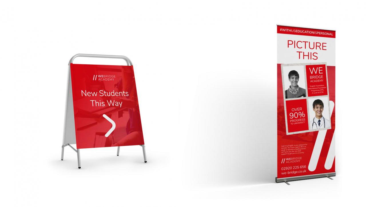 we bridge academy branded exhibition materials - WE Bridge Academy Brand