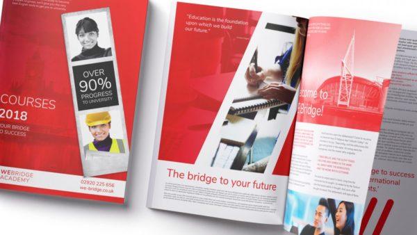 we bridge academy brochure design 600x338 - WE Bridge Academy Brand