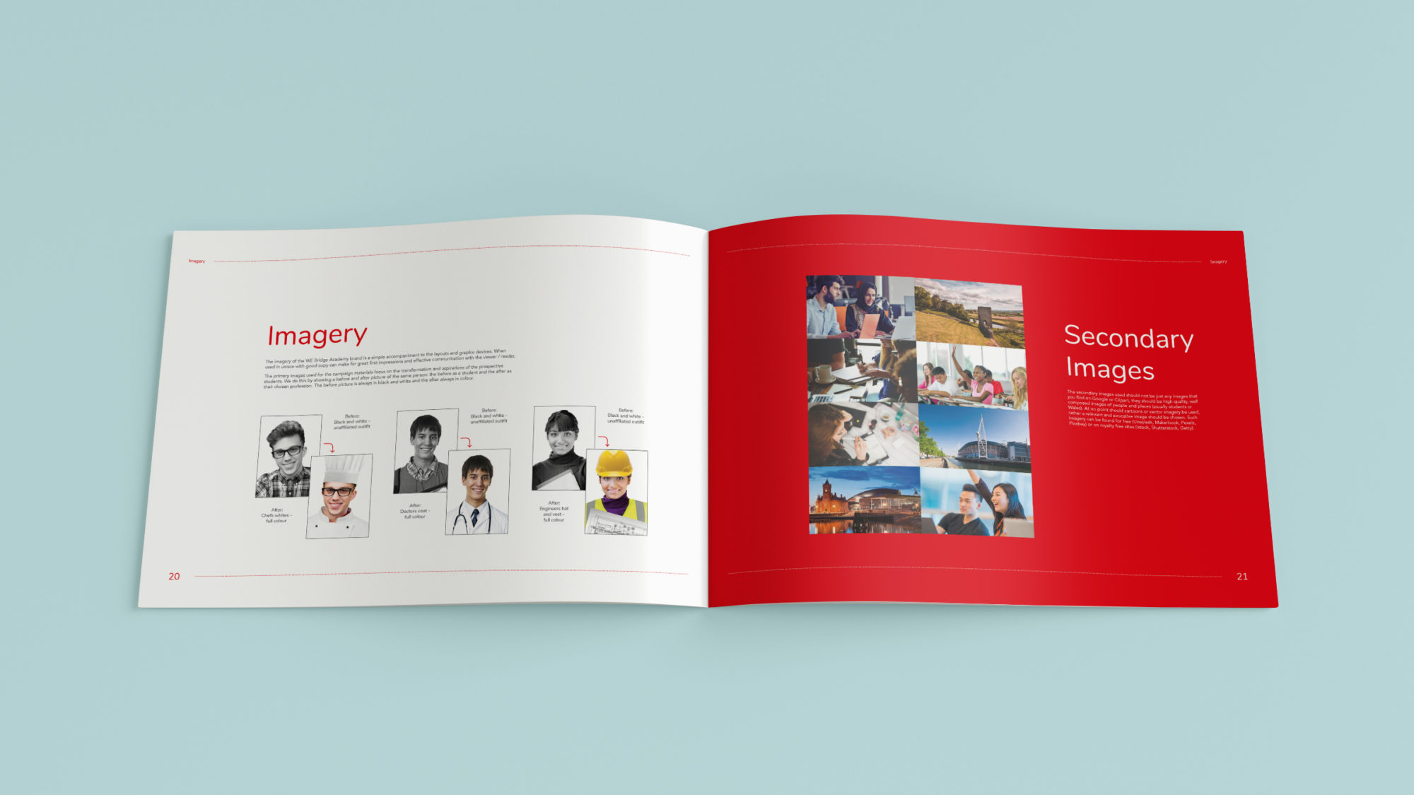We Bridge Imagery Brand book Mockup - Get the Right Results This August